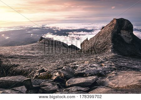 Hiking to the summit of Mount Kinabalu
