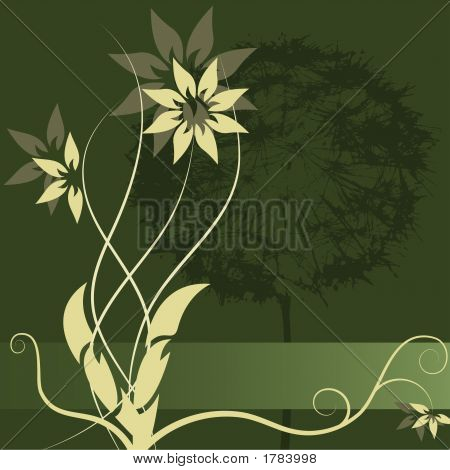 Vector Flower Label Design