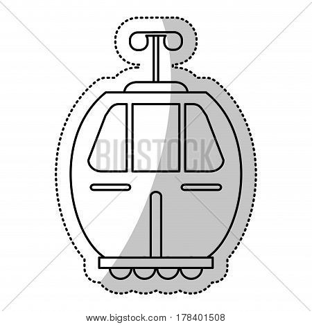 cable car transport gondola cut line vector illustration eps 10