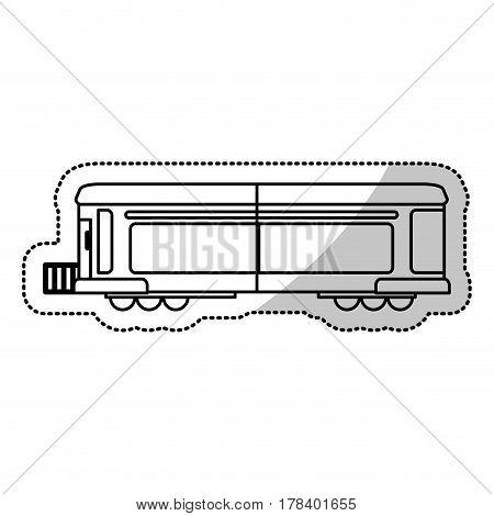 locomotive train transport cargo cut line vector illustration eps 10