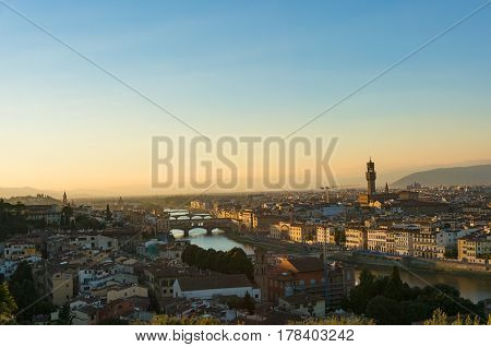 Aerial View Of Florence Cityscape