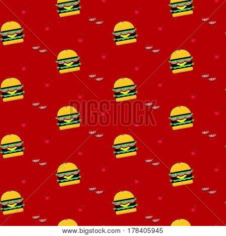 Seamless Delicious Hamburgers