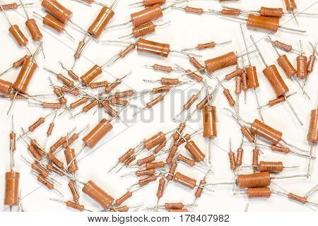 Of radioactive elements - set of old resistors