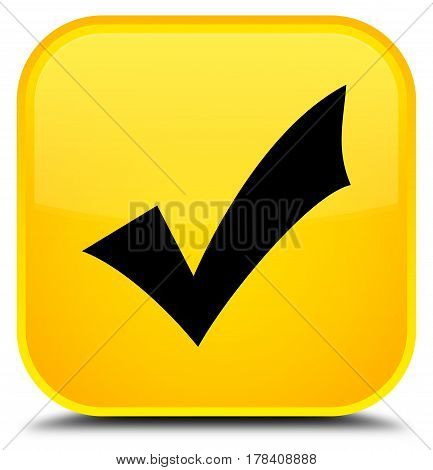 Validation Icon Special Yellow Square Button