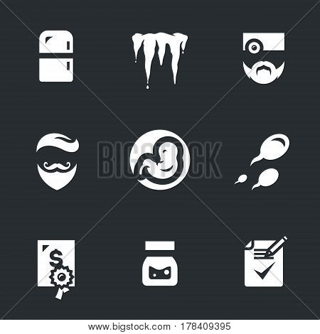 Refrigerator, ice, doctor, man, embryo, sperm, premium, bank, contract.