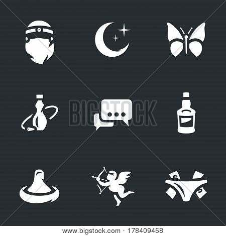 Woman, night, butterfly, hookah, communication, booze, condom, cupid, tips.