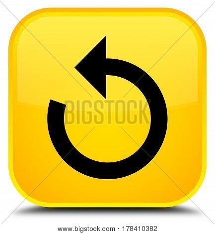 Refresh Arrow Icon Special Yellow Square Button