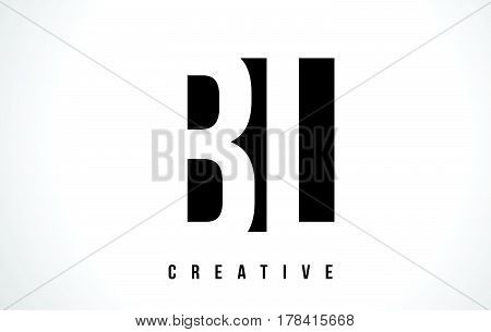 Bl B L White Letter Logo Design With Black Square.
