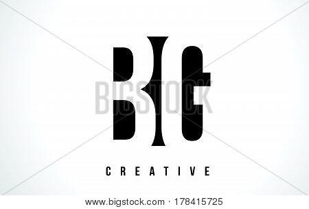 Bg B G White Letter Logo Design With Black Square.