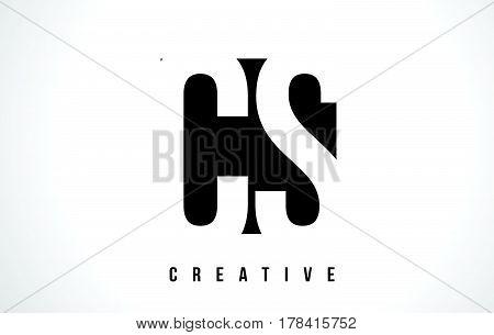 Cs C S White Letter Logo Design With Black Square.