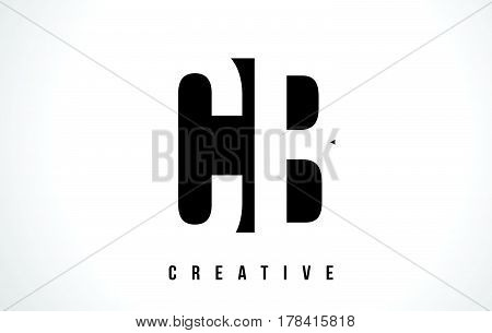 Cb C B White Letter Logo Design With Black Square.