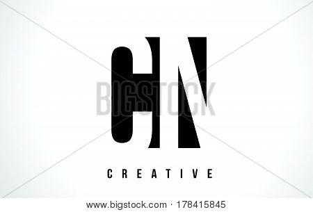 Cn C N White Letter Logo Design With Black Square.
