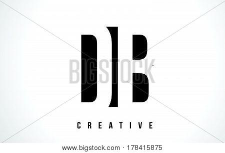 Db D B White Letter Logo Design With Black Square.