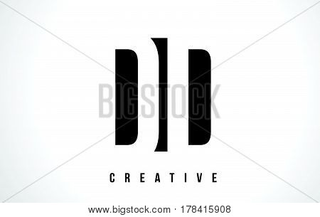 Dd D D White Letter Logo Design With Black Square.