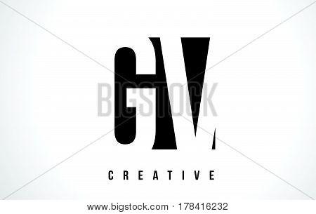 Gv G V White Letter Logo Design With Black Square.