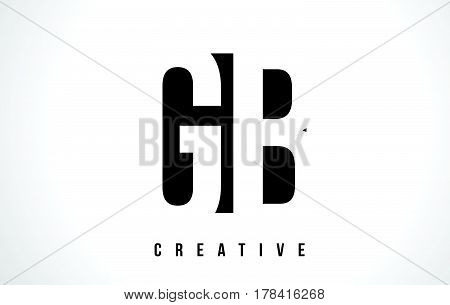 Gb G B White Letter Logo Design With Black Square.