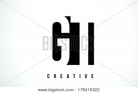 Gt G T White Letter Logo Design With Black Square.