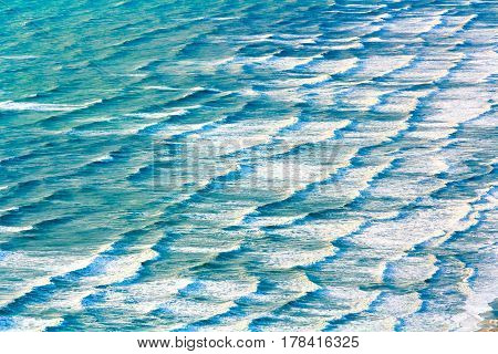 ocean water texture, location - Wellington, Kapiti Island, North Island, New Zealand