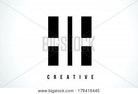 Hh H H White Letter Logo Design With Black Square.