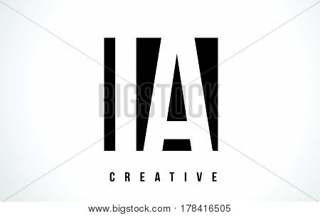 Ia I A White Letter Logo Design With Black Square.