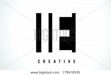 Ie I E White Letter Logo Design With Black Square.