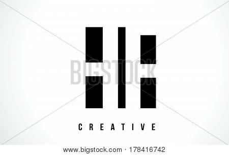Hf H F White Letter Logo Design With Black Square.