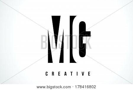 Mg M G White Letter Logo Design With Black Square.