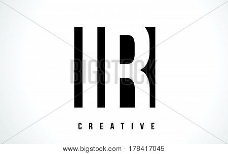 Ir I R White Letter Logo Design With Black Square.
