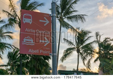 Street Directory To Airlie Central Bus Station And Abell Point