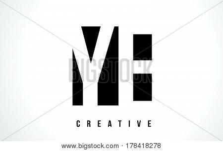 Ye Y E White Letter Logo Design With Black Square.