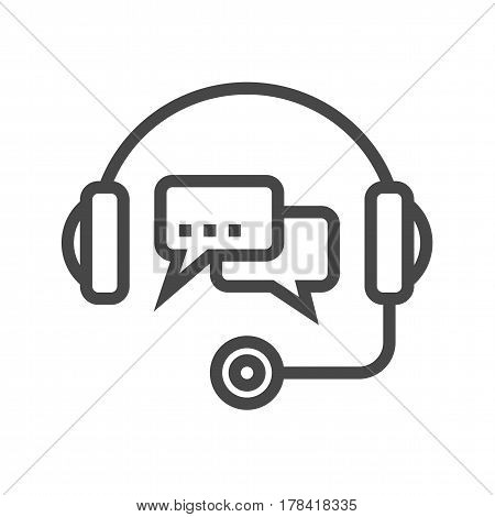Support Thin Line Vector Icon. Flat icon isolated on the white background. Editable EPS file. Vector illustration.
