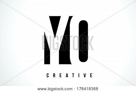Yo Y O White Letter Logo Design With Black Square.