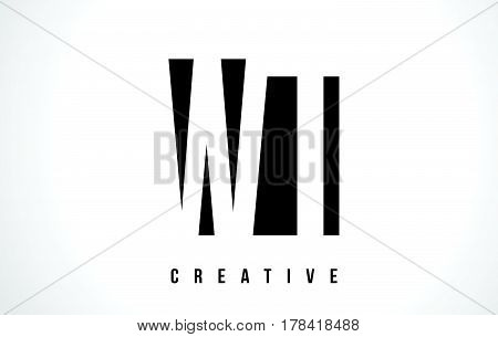 Wt W T White Letter Logo Design With Black Square.