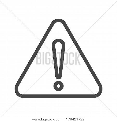 Triangle Thin Line Vector Icon. Flat icon isolated on the white background. Editable EPS file. Vector illustration.
