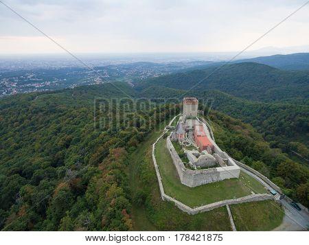 Aerial view of Old town Medvedgrad, Croatia