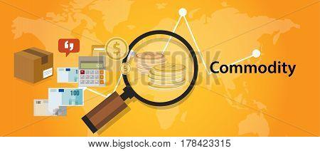 Commodity trading market investment concept economy vector