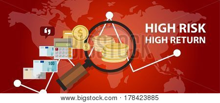 High risk high return investment profile analysis of money vector