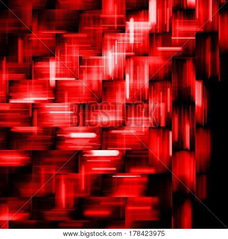 Abstract Red And Black Geometric Background. Fantasy Fractal Texture. Digital Art. 3D Rendering.