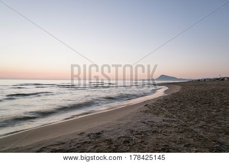 Scenic View Of Sea Against Sky At Morning in Oliva Valencia Spain