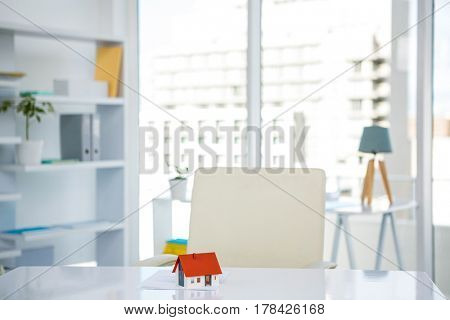 Footage of businessman office in bright light