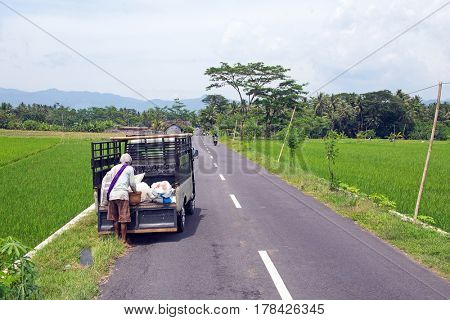 On the road in East Java Indonesia