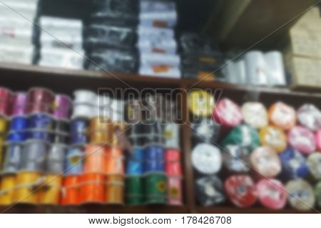 blurred photo Blurry image garment shop background