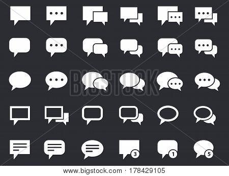 communication icons set, talk bubbles communication dialog