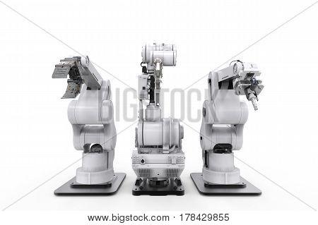 Robotic Arms In A Row
