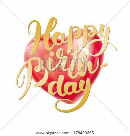 Happy Birthday Heart Balloon