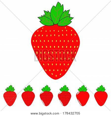 The Red Strawberry And Strawberries.