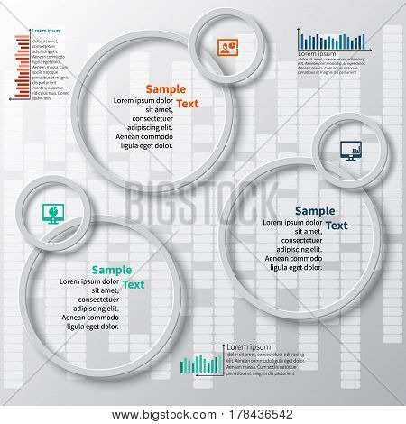 vector abstract 3d paper infographic elements.Business infographics