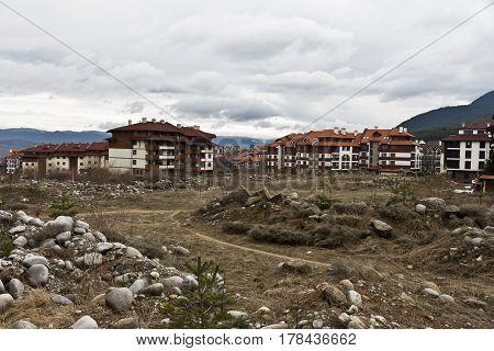 Bansko, Bulgaria - March 20, 2017: Visiting of Bansko town in winter.  Bansko ski tourist centre of Bulgaria