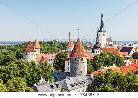 Historical old town of Tallinn capital of Estonia