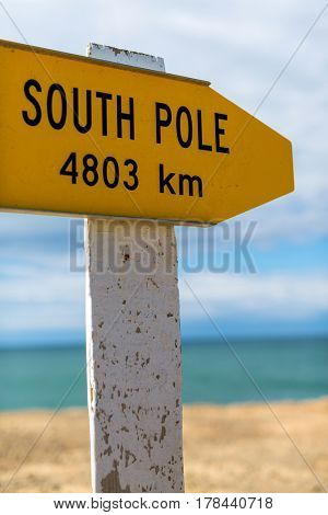 South Pole sign